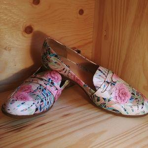 JustFab Block heeled loafer